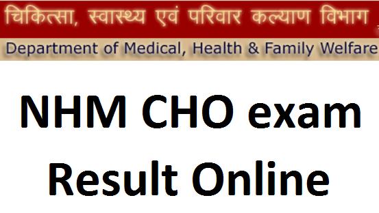 Rajasthan NHM CHO result
